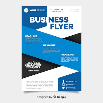 Business flyer template with corporate design