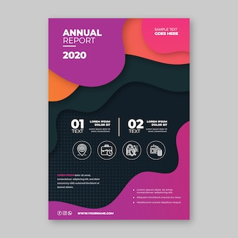 Business flyer template with fluid shapes