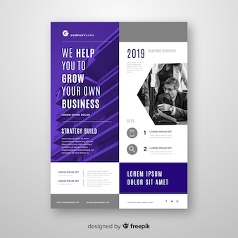 Business flyer template with image