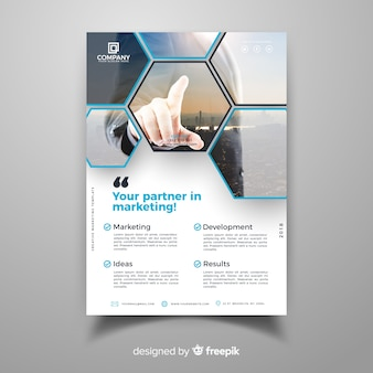 Business flyer template with modern style