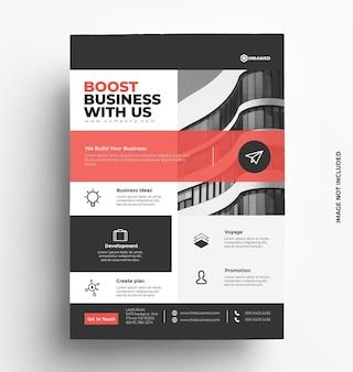 Шаблон бизнес-флаера с фото