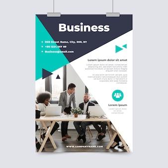 Бизнес флаер шаблон с фото