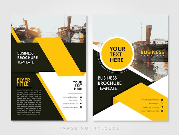 Business flyer template yellow