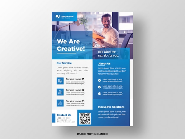 Business flyer template.