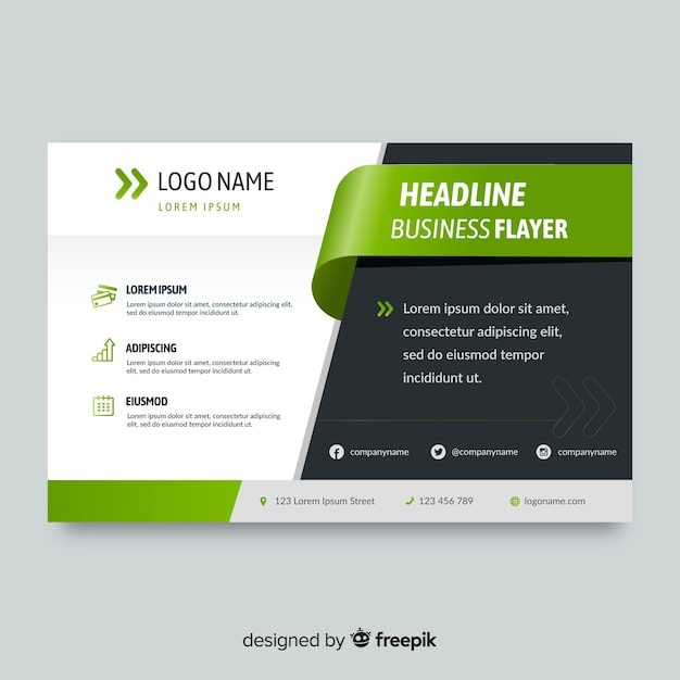 make a flyer free template