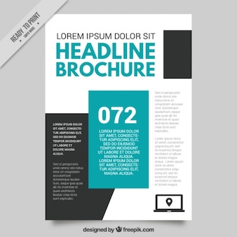 Business flyer with blue details