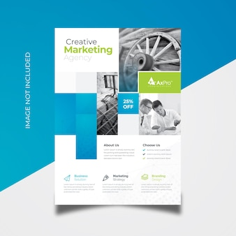 Business flyer with boxes style