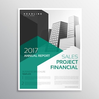 Business flyer with modern shapes
