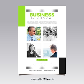 Business flyer with mosaic pictures