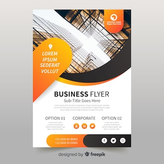 Business flyer with photo template
