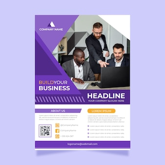 Business flyer with photo