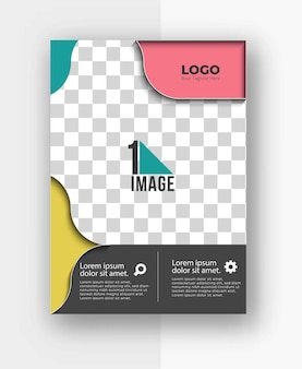 Business flyer with space of image and logo.