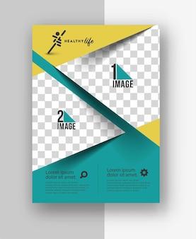 이미지와 로고의 공간이 있는 비즈니스 전단지.