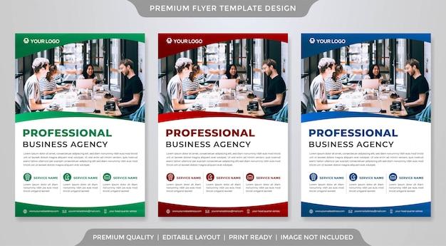 Business flyer Premium Vector