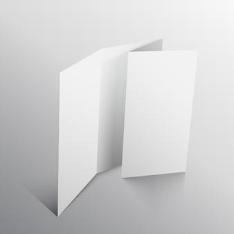 Business folable brochure design template