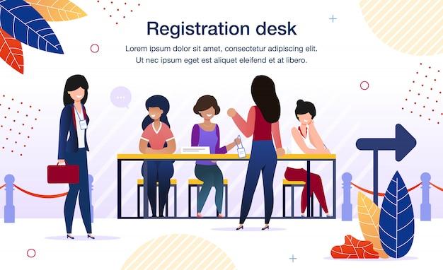 Business forum registration desk banner