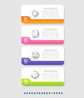 ビジネス4オプションインフォグラフィックグラフ要素。