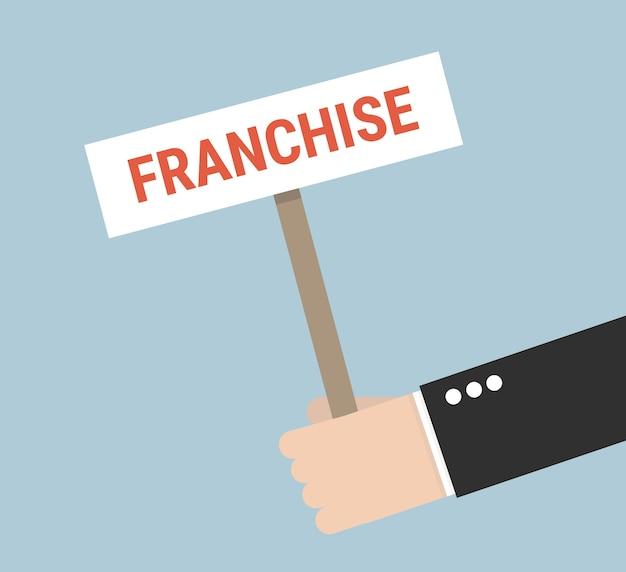 Business franchise concept.