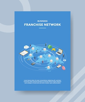 Business franchise network flyer template