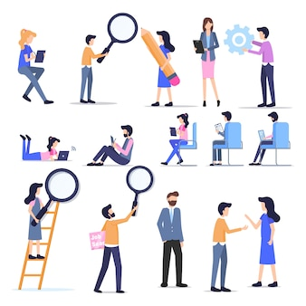 Business freelance peopleカジュアルキャラクターセット
