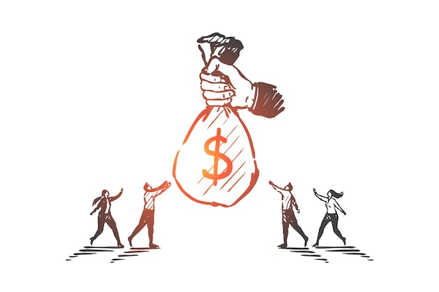 사업 자금, 후원, 투자 개념 그림