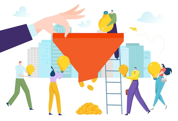 Business funnel for flat money