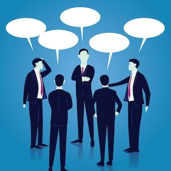 Концепция глобальной глобальной коммуникации. деловые люди. вектор