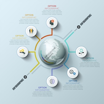 Business global infographic template