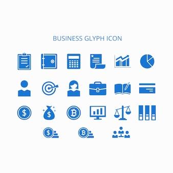 Иконка business glyph