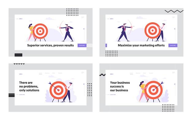Набор целевой страницы концепции достижения бизнес-цели