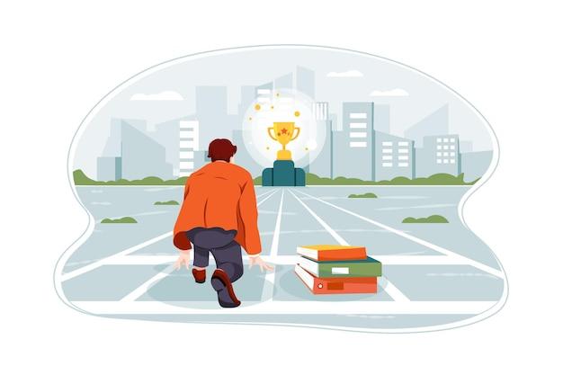 Бизнес-концепция иллюстрации цели