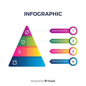 ビジネスグラデーションインフォグラフィック