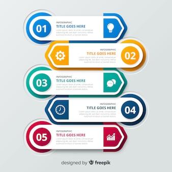 Business gradient infographic