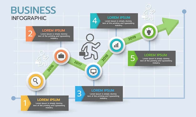 Business graph infographic. timeline infographic template.