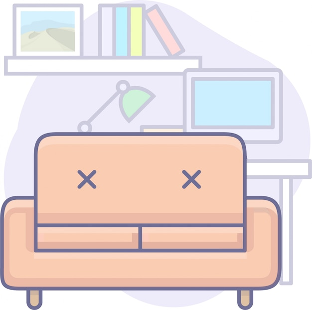 Business graphics with sofa
