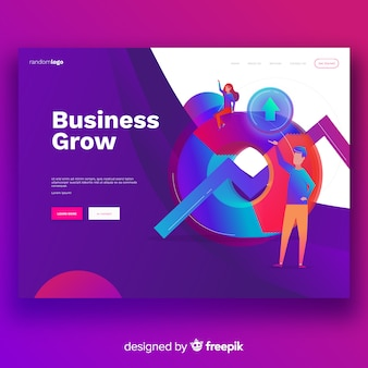 Business grow landing page