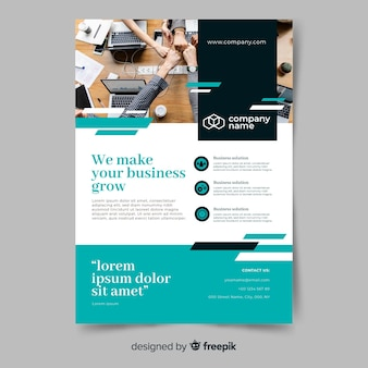 Business growth abstract flyer template