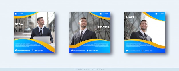 Business growth instagram post and banner template