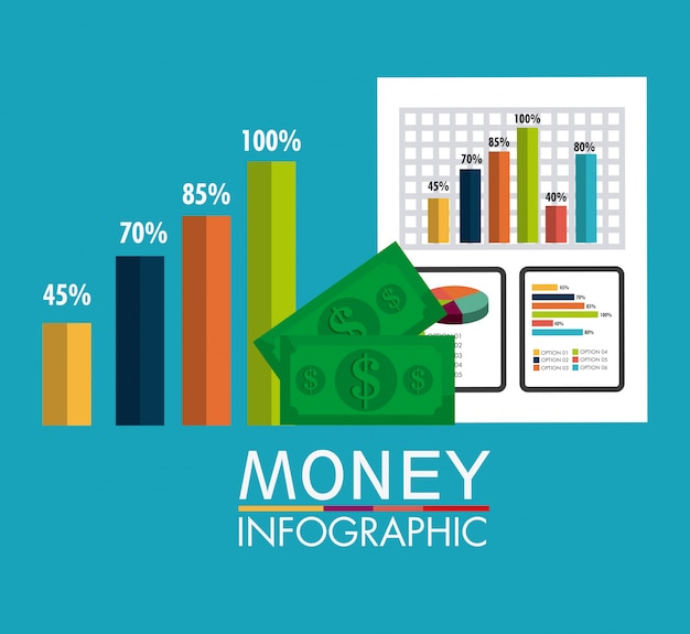 Business growth and money savings statistics