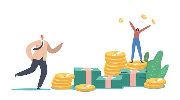 비즈니스 성장, 부 및 번영 개념
