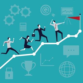 최고 팀을 실행하는 경영진과 비즈니스 성장