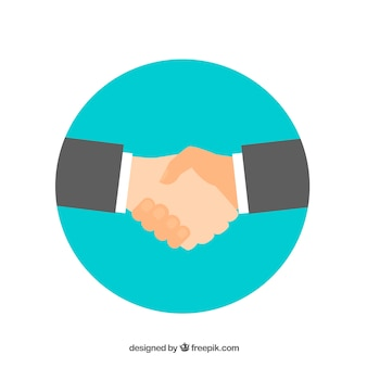 Business handshake background in flat style