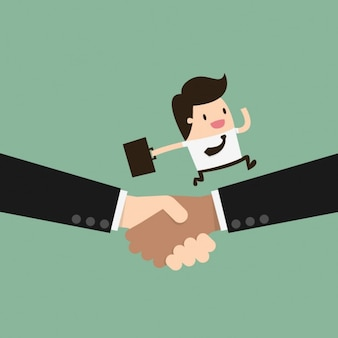 Business handshake design