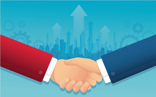 Business handshake for successful agreement