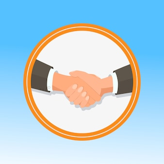 Business handshaking gesture