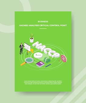 Доска с диаграммой презентации критических контрольных точек анализа бизнес-рисков вокруг денег из учебника haccp