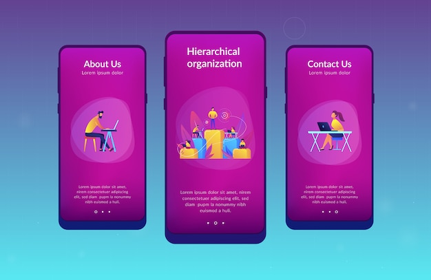 Business hierarchy app interface template