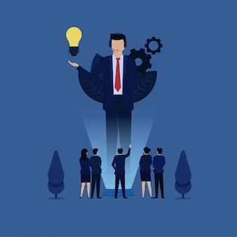 Бизнес-голограмма виртуальный помощник и команда просят помощи метафору обслуживания клиентов.