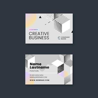Шаблон бизнес-горизонтальной визитки