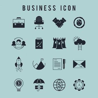 矢印で設定されたビジネスのアイコン